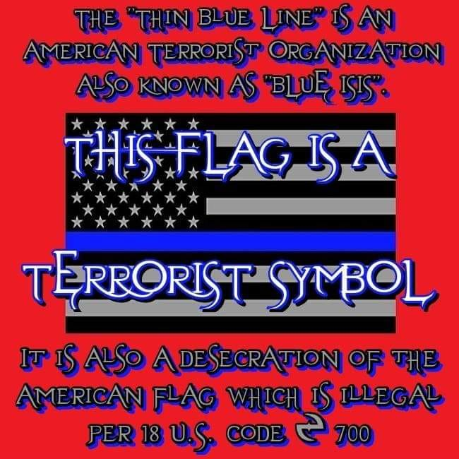 They want to make the Blue Lives Matter flag a symbol of