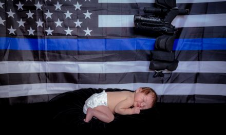 Officer: Doctors said we couldn't have a baby. Then this angel came into our lives.