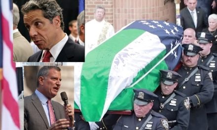 Cuomo skips 9/11 hero's wake to zipline, Blasio blows off funeral to campaign to be president