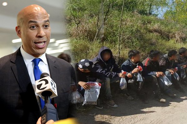 Booker leads deported immigrants back across US border, blames Trump
