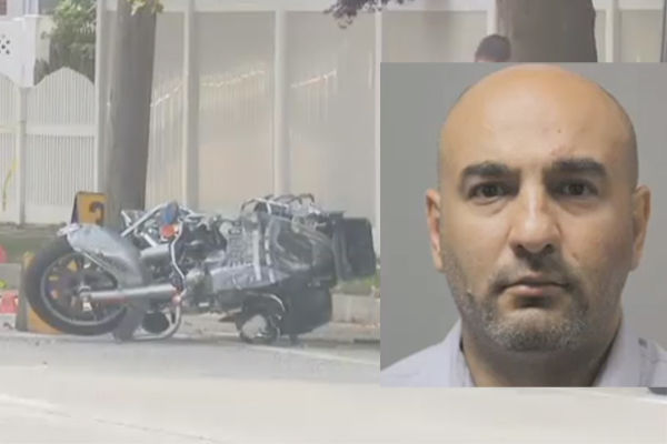 A Nassau County police officer is fighting for his life today after a hit-and-run accident.