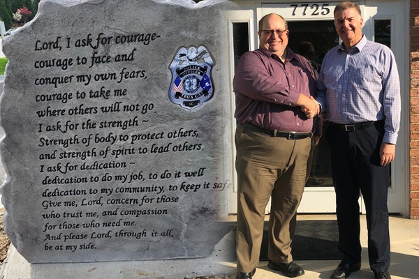 "Fallen officer monument with ""Lord"" returned, restored after huge public backlash"