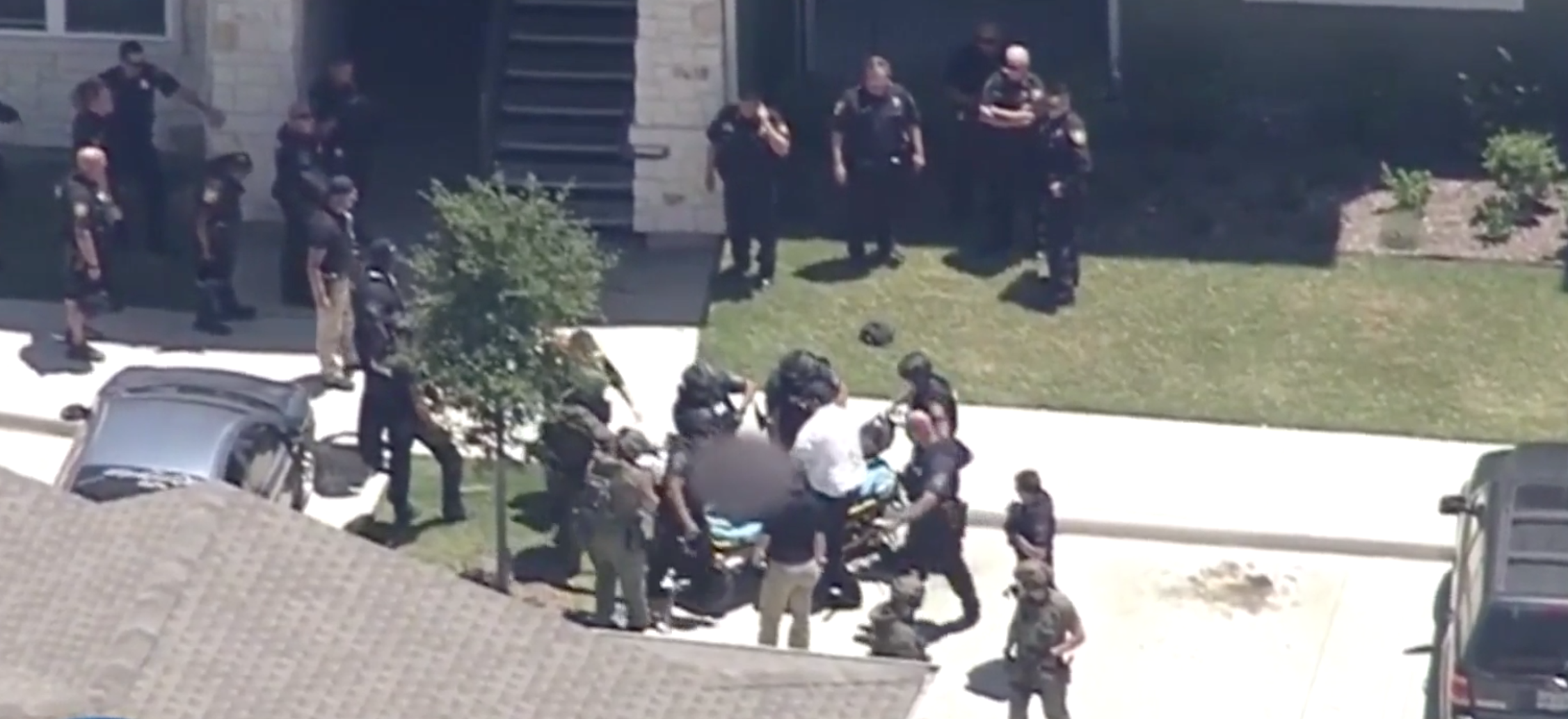 Developing: Active shooter takes child hostage.  SWAT destroys bad guy.