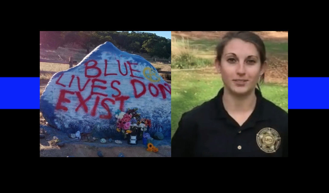 'Blue Lives Don't Exist' – memorial for fallen officer vandalized twice