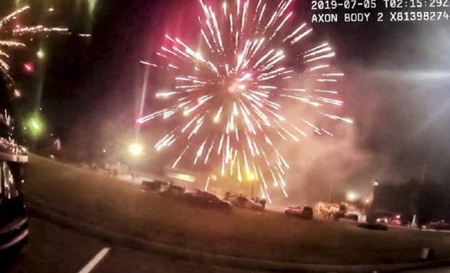 """Video: residents shoot explosives at police and paramedics in """"fireworks war"""""""