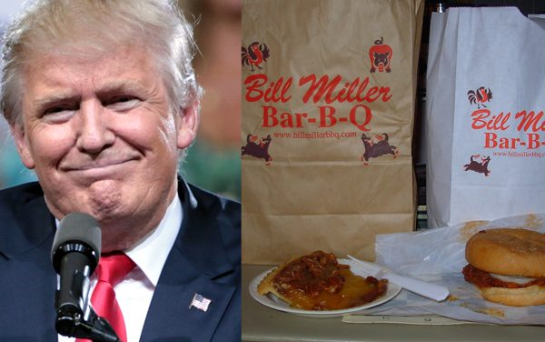 Politician calls out BBQ chain for donating to Trump campaign.  Business explodes.
