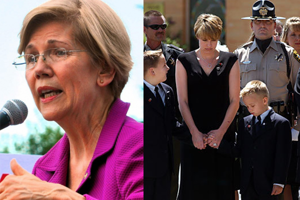 Elizabeth Warren just called police violent and racist.  This police widow puts her in her place.