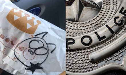 Burger King employee draws pig on cop's meal.  Company responds by drawing pink slip for employee.