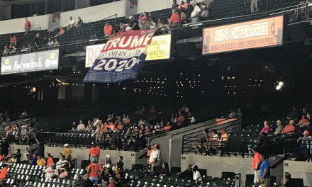 Police called after people display pro-Trump banner at Baltimore Orioles game