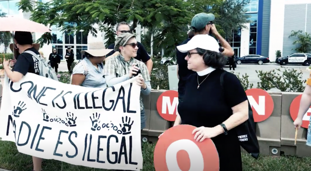 ICE protestors threaten children, pets, homes