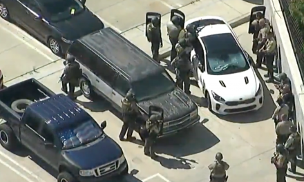 Sniper ambushes deputy walking out of Sheriff's Department – manhunt underway