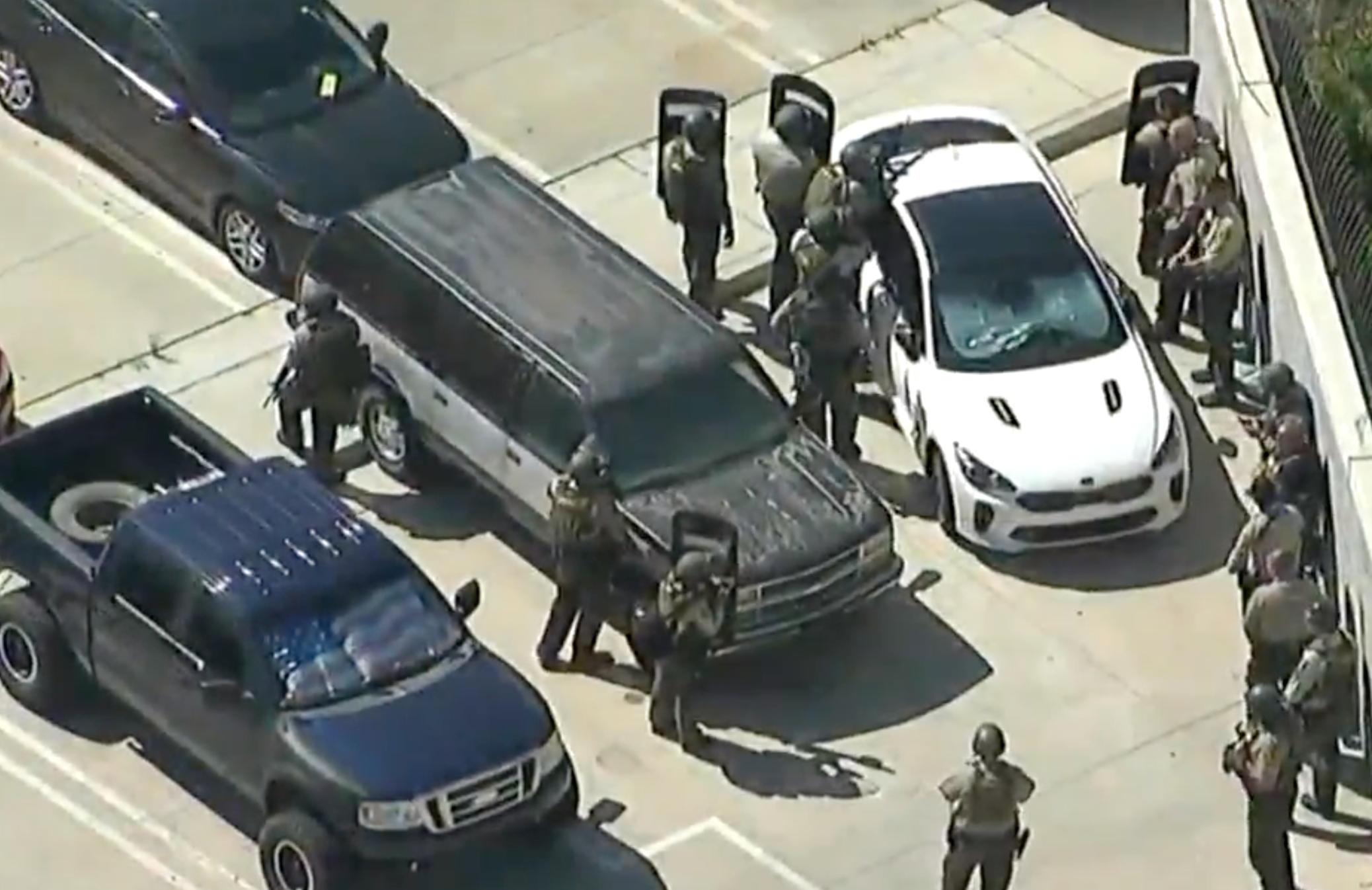 Manhunt underway: Sniper shoots deputy walking out of Sheriff's Department