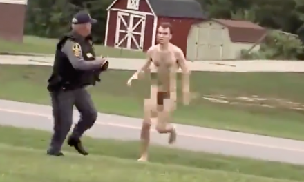 Naked triple-murder suspect attacks church groundskeeper before getting tasered and arrested