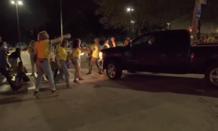 A corrections officer drove his truck slowly through protesters. The media lost their minds.