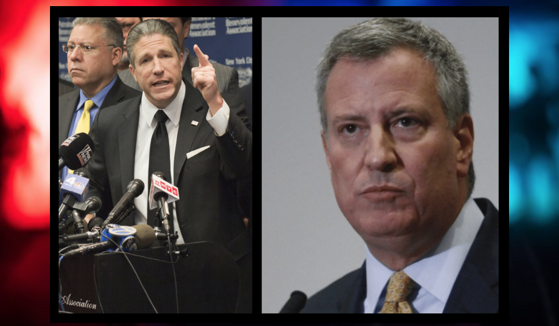 Police slam de Blasio over Brooklyn 'chaos' that put three cops in the hospital