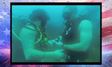 Army veteran gets surprise of her life in underwater marriage proposal