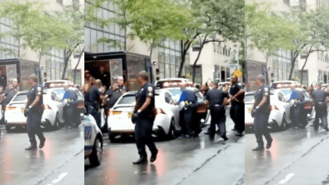 Watch: This is what happens when someone intentionally smashes into a police cruiser