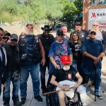 Protestors threaten pro-police event, get scared off by Bikers for Trump