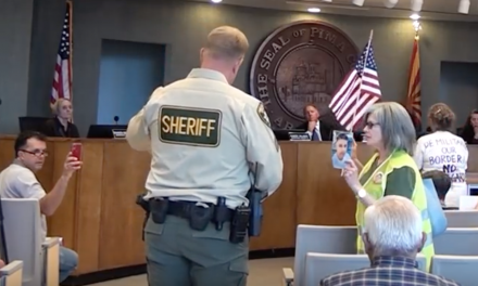 Angel grandmother kicked out of Arizona board meeting for speaking against open borders