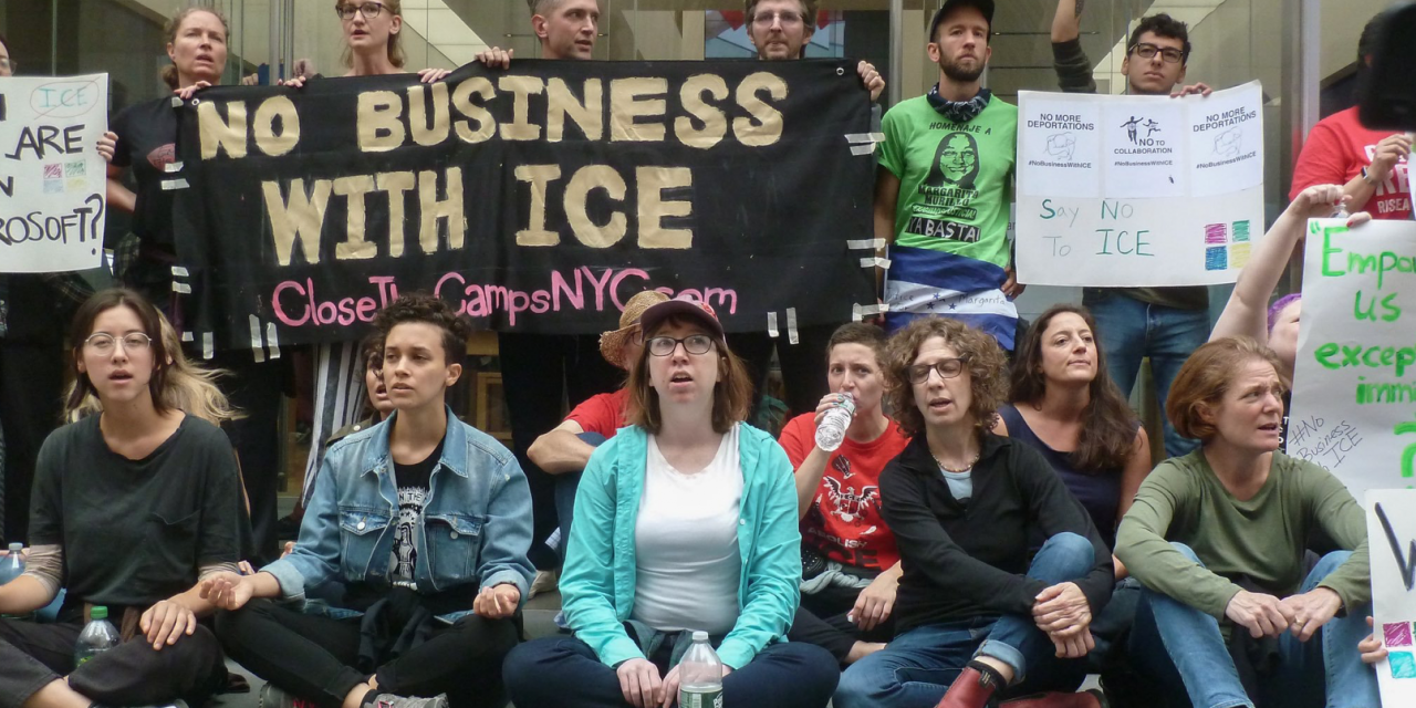 Dozens of anti-ICE protesters arrested at NYC store