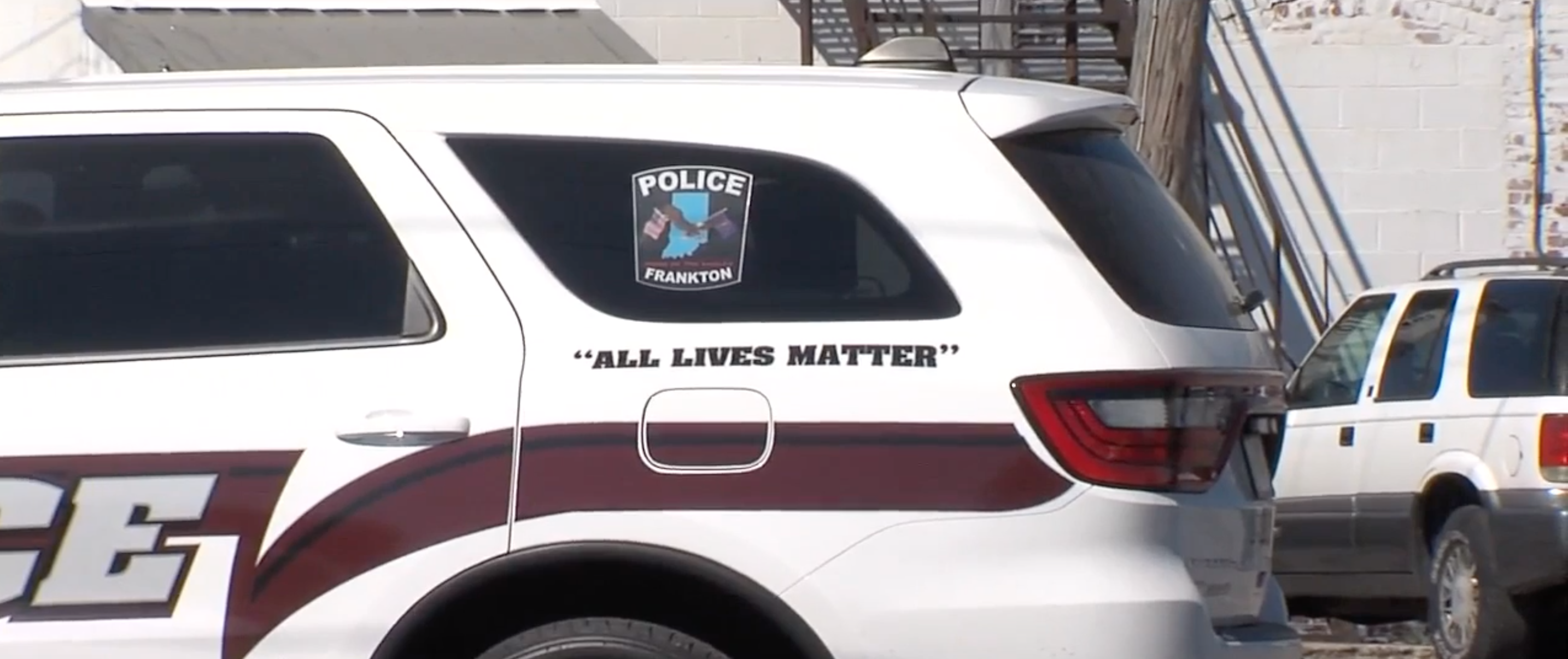 Town vows to remove 'All Lives Matter' decals from police vehicles
