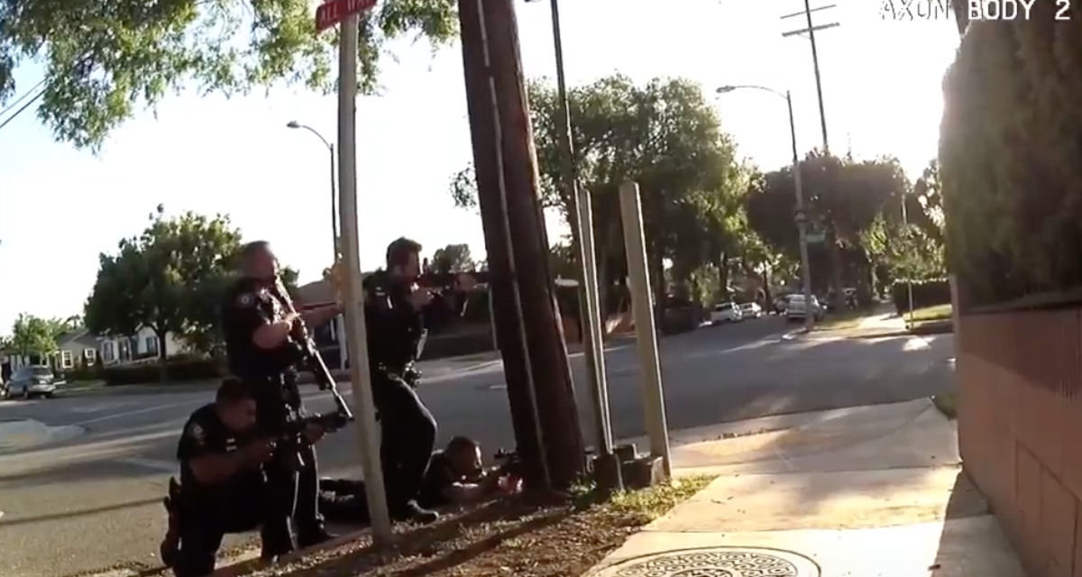 Watch: California department releases video of fatal shootout with gang banger