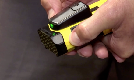 The new Taser? Police are testing this new 'Spider-Man' device