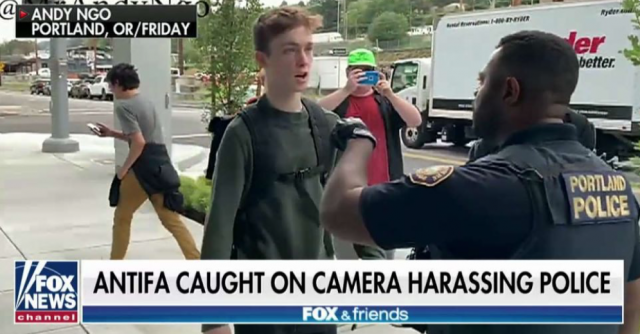 Watch: Antifa members hijack peaceful rally to go after police in Portland