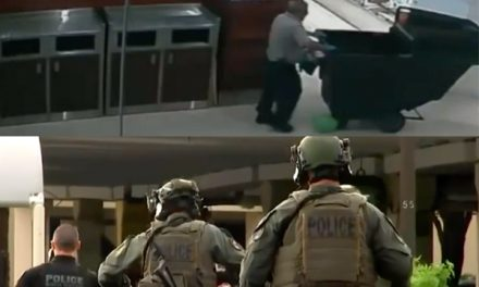 Watch: Police rush to mall for active shooter report.  Turns out it was two balloons popping.