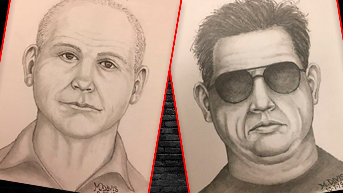 Right to left: Police sketches depict two men who allegedly approached a 14-year-old boy and an 8-year-old girl, respectively, in Haverford Township. Montage by Original Media Group Corporation.