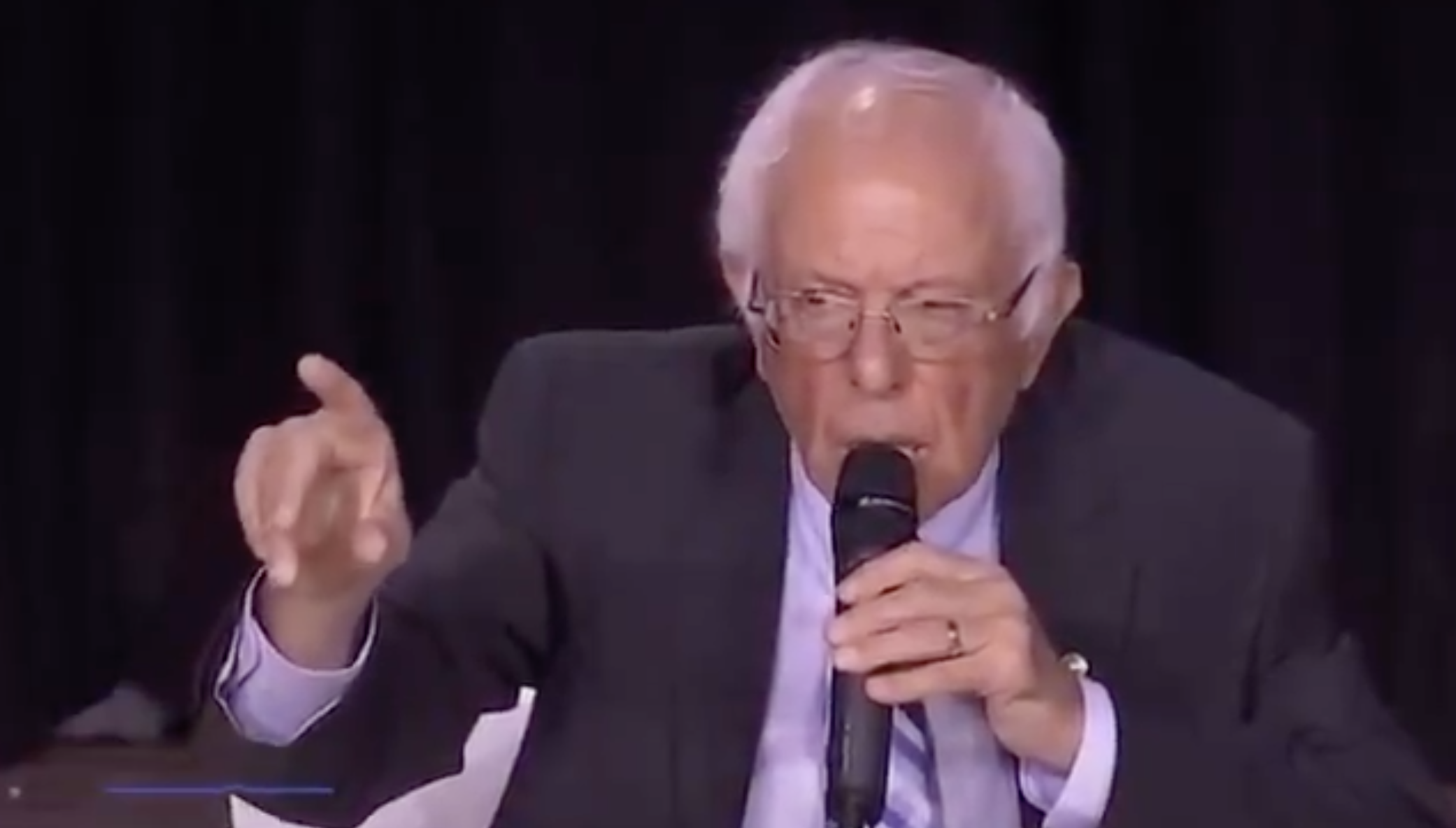 "Bernie Sanders: Respect police ""so that you don't get shot in the back of the head"""