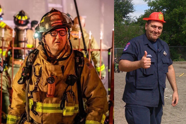 Marine, firefighter dies after being hit by van while battling hotel fire