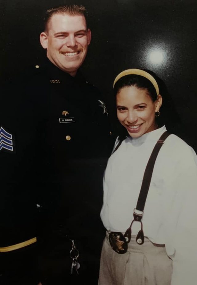 Angela Dunakin, Former deputy, wife of murdered officer tragically killed. Saves four lives with her death.