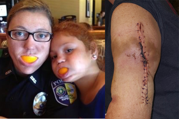 Officer Down: Officer McBride shot four times by sniper while she was protecting protestors