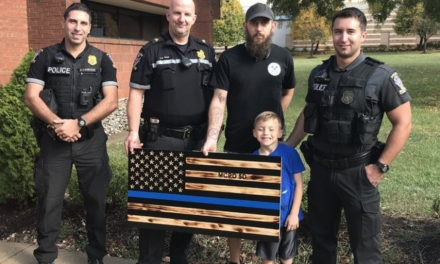 """City: Thin blue line flag gifted to police must be hidden because it's too """"alarming"""""""