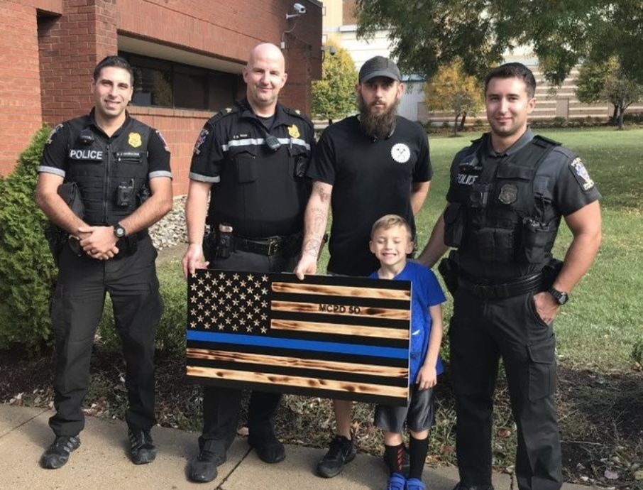 "City: Thin blue line flag gifted to police must be hidden because it's too ""alarming"""