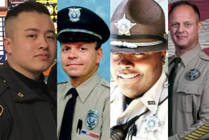 Four officers killed in crashes this week.  The media was more concerned with impeaching Trump.