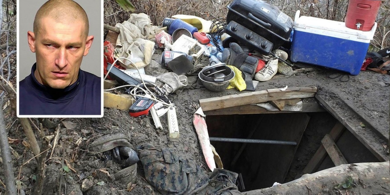 Police arrest man prepared for war who was living in underground bunker for 10 years
