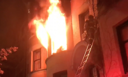 Massive NYC fire puts 14 cops in the hospital