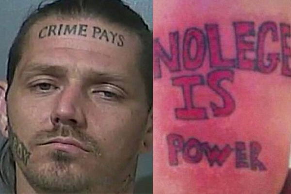 "Manhunt underway for criminal with ""crime pays"" tattooed on forehead"
