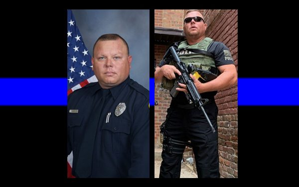 Officer, veteran, father of five shot in the heart and killed.  His father was also killed in the line of duty.