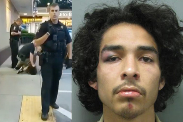 Cop convicted of assault for dropping knee on suspect who spit blood on him