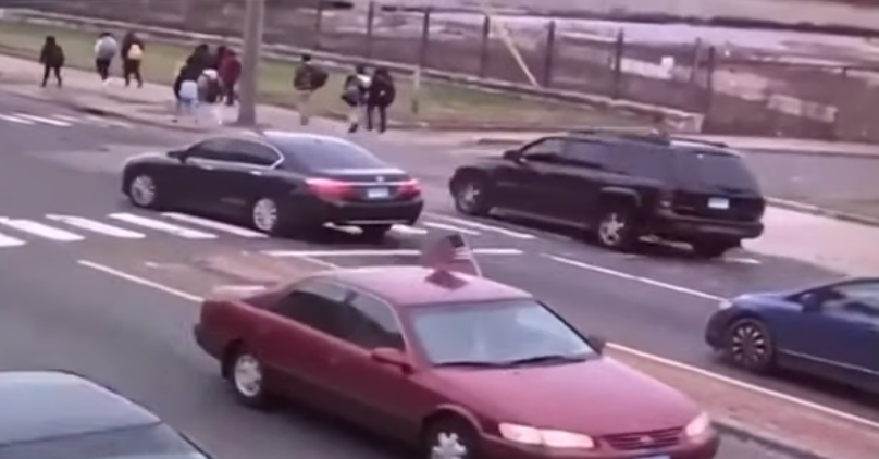 Watch: Hero cop saves school children from being crushed by SUV