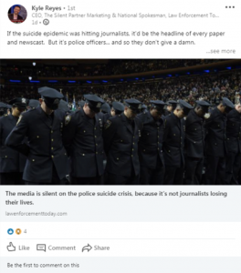 Did LinkedIn shut down Law Enforcement Today's national spokesman for being too pro-police?