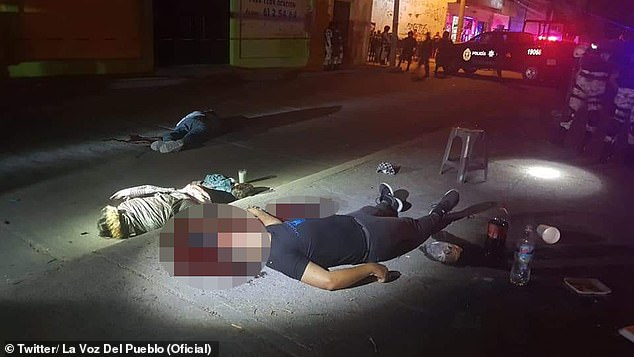 In this picture, you can see three of the eight people who were executed at a street taco stand on Saturday. A six-year-old boy was also among the victims, officials said.