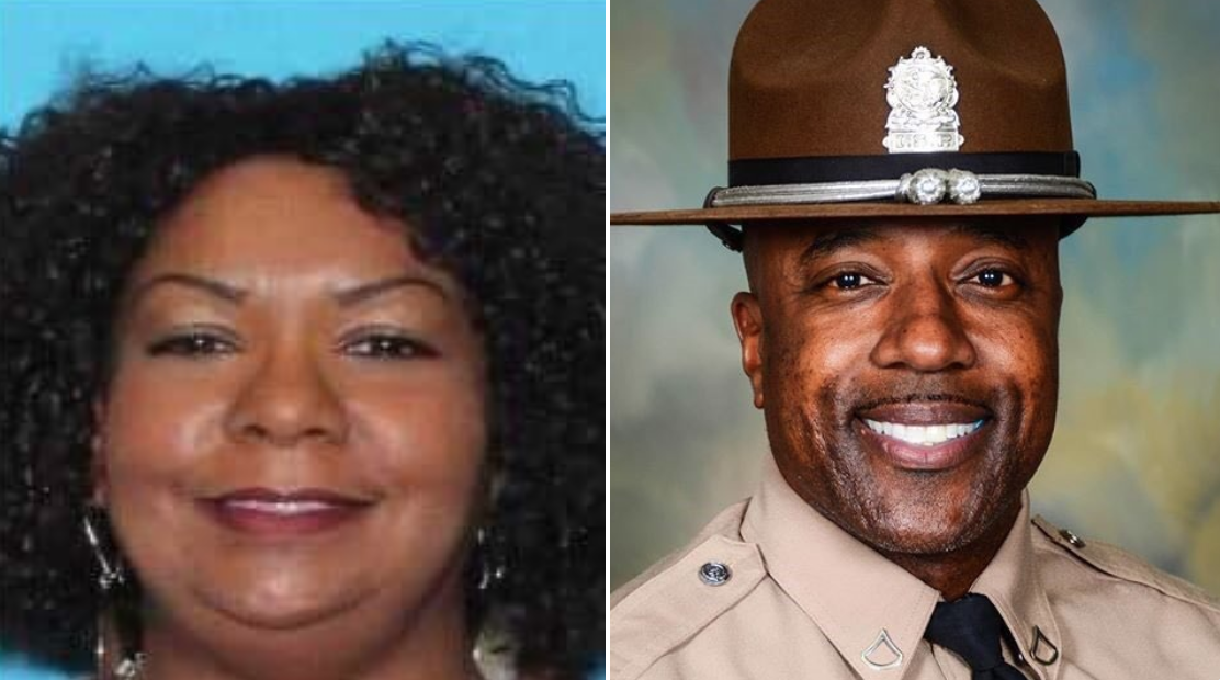 Police now say the woman started laughing out loud before shooting the Trooper in the back of the head