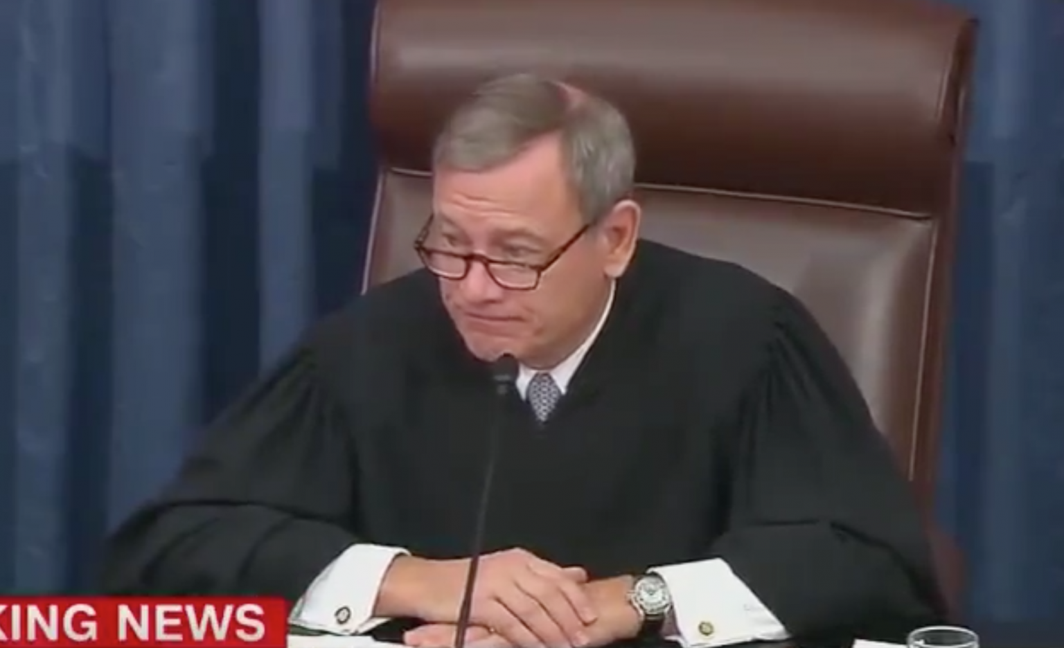 Sen. Warren publicly attacks, attempts to humiliate Supreme Court Justice Roberts... who then stares her down.