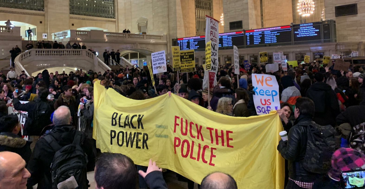 Anarchists spark riots, vandalism at Grand Central - shutting down trains and causing mayhem