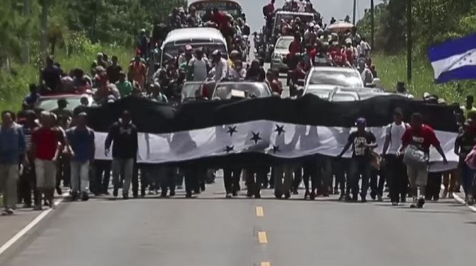 Authorities stop massive migrant caravan from entering Mexico. Media silence.