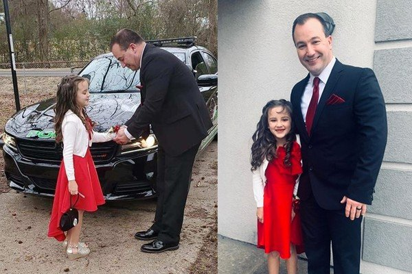 Officer takes girl, 8, to the annual father-daughter dance after her dad passes away